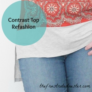 Contrast Top Refashion
