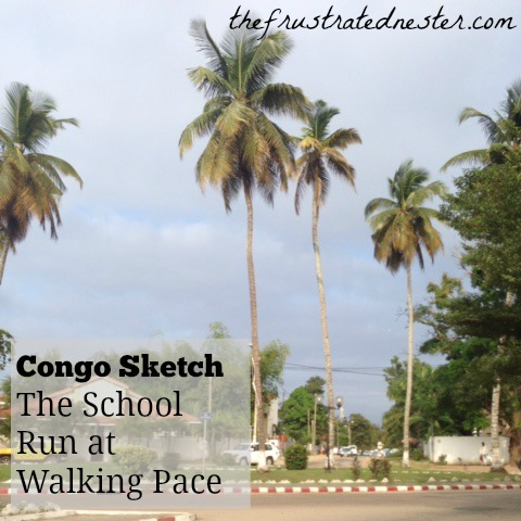 Congo Sketch School Run Pin
