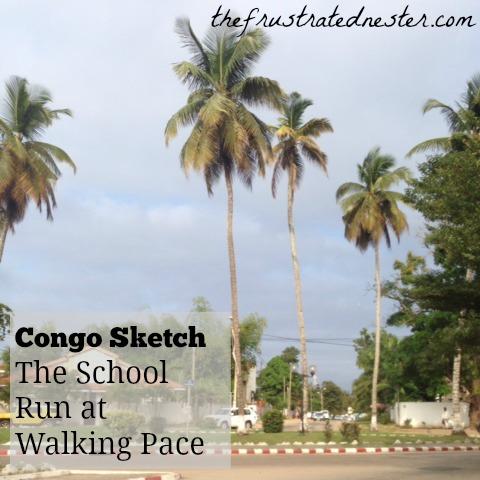 Congo Sketch School Run Pin